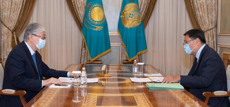 Президент Ұлттық банк төрағасы Ерболат Досаевты қабылдады 1